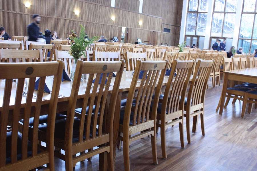 St Anne's College dining hall