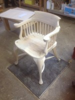 Jimi Hendrix Museum chair in the workshop