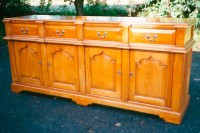 Oak Sideboard with Break Front Details