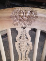 Carved armchair detail
