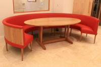 Elliptical Dining Table and Bench