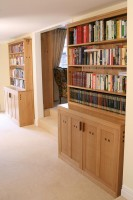 Bookcase with Storage Cupboards