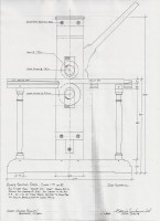 Blake Press side elevation drawing