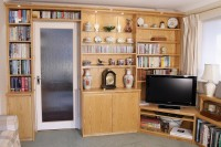 Fitted Bookcase and AV Storage