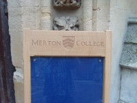 Merton College noticeboard