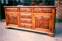 Sideboard with Burr Oak Panels
