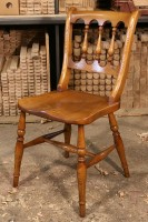 Oxford Scroll-Back Chair