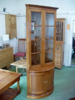 Bow-Fronted Corner Cupboard