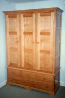 Three-Door Wardrobe with Chest of Drawers