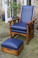 Reclining Armchair with Sewing Stool