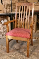 High-Back Lath Armchair