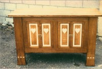 Heart Panelled Cupboard