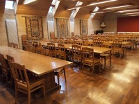 Linacre College chairs in place
