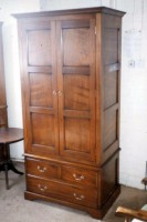 Two-Door Wardrobe with Chest of Drawers