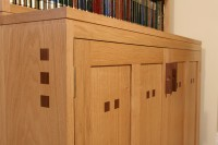 Oak and Walnut Storage Cupboard