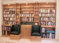 Large Bookcase with Integral Tub Chairs