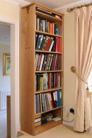 Tall Oak Bookcase