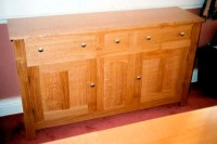 Natural Oak Contemporary Sideboard