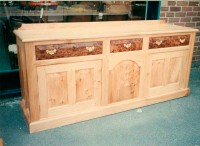 Sideboard with Burr Elm Drawer Fronts