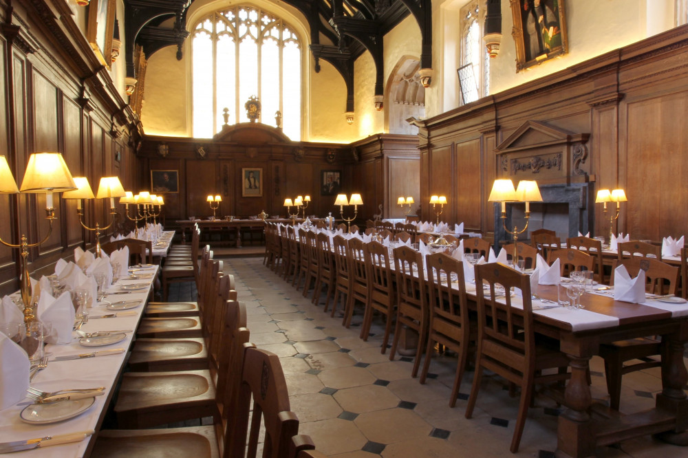 Corpus Christi College dining hall furniture set