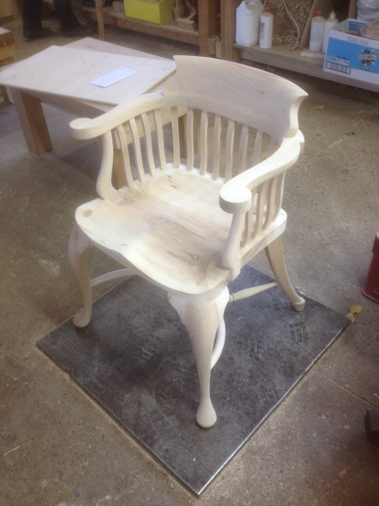 The Hendrix chair under construction