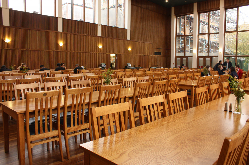 College refectory seating