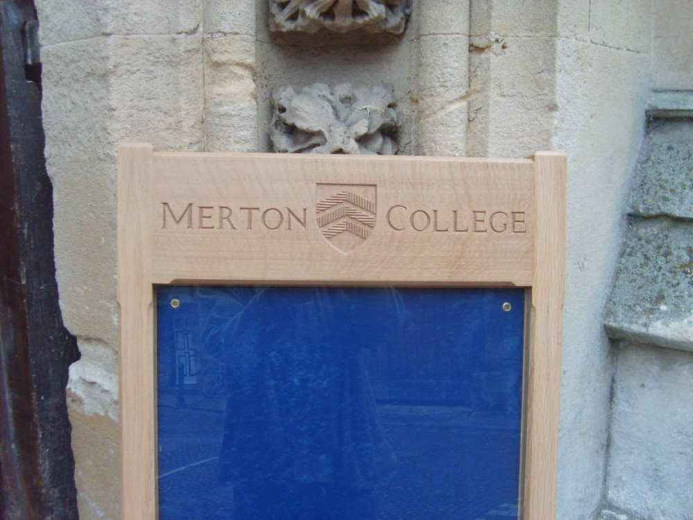 Noticeboards for Merton Collage Oxford
