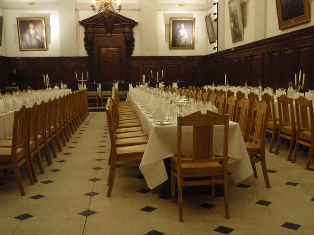 Banqueting hall dining tables and chairs