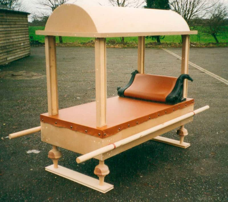 Sedan bed made for film set