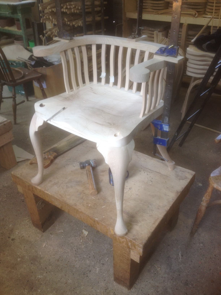 The Hendrix chair - another construction view